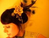 Gypsie Magic--- Feather Fascinator