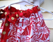 Holiday pillowcase dress-6-9months ONLY