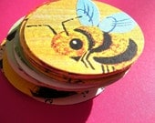 25 Recycled Rounds / large circle punchies from vintage kids books