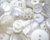 White-Washed Armoire button mix -   shabby vintage Buttons -  large bag of 75 grams