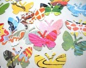 Mariposa - 100 large vintage Butterfly paper punchies / cut outs