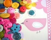 100 Brightly coloured 'Kindergarten Mix' Buttons - great variety including novelty shapes...