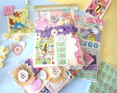 Pretty Vintage paper Ephemera pack / altered art kit / collage goodie bag - FUN FUN FUN