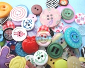 50 Buttons - 'FANCY PANTS' Mix - mixed pack of 50 interesting small buttons