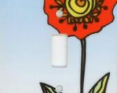 Modern Sunflower, Single Switch Plate Tile by Elizabeth GLz Designs