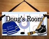 Hockey is My Game - Boys Bedroom - I Love Hockey DOOR SIGN Wall Art Ds0032