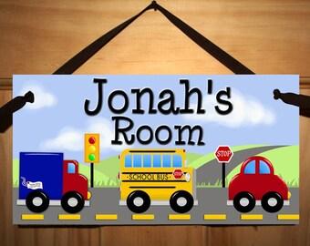 VRoOM VroOm - Stop - Let's Go - Boys Bedroom Baby Nursery Kids Bedroom DOOR SIGN Wall Art Ds0043