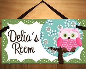 Sweet Little Owl Girls Bedroom and Baby Nursery Kids Bedroom DOOR SIGN Wall Art DS0025