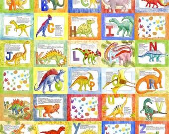 You Choose 1 Extra Special ALpHaBeT DINOSAUR 8 x 10 Kids ART Print