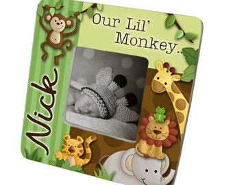 PHOTO FRAME Jungle Safari Animal Picture Birth Frame for Babies Bedroom Baby Nursery PF0013