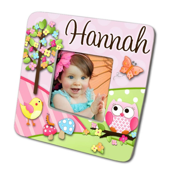 Owls Love Birdies Girls Nature Forest Photo PICTURE FRAME for Kids Bedroom Baby Nursery PF0024