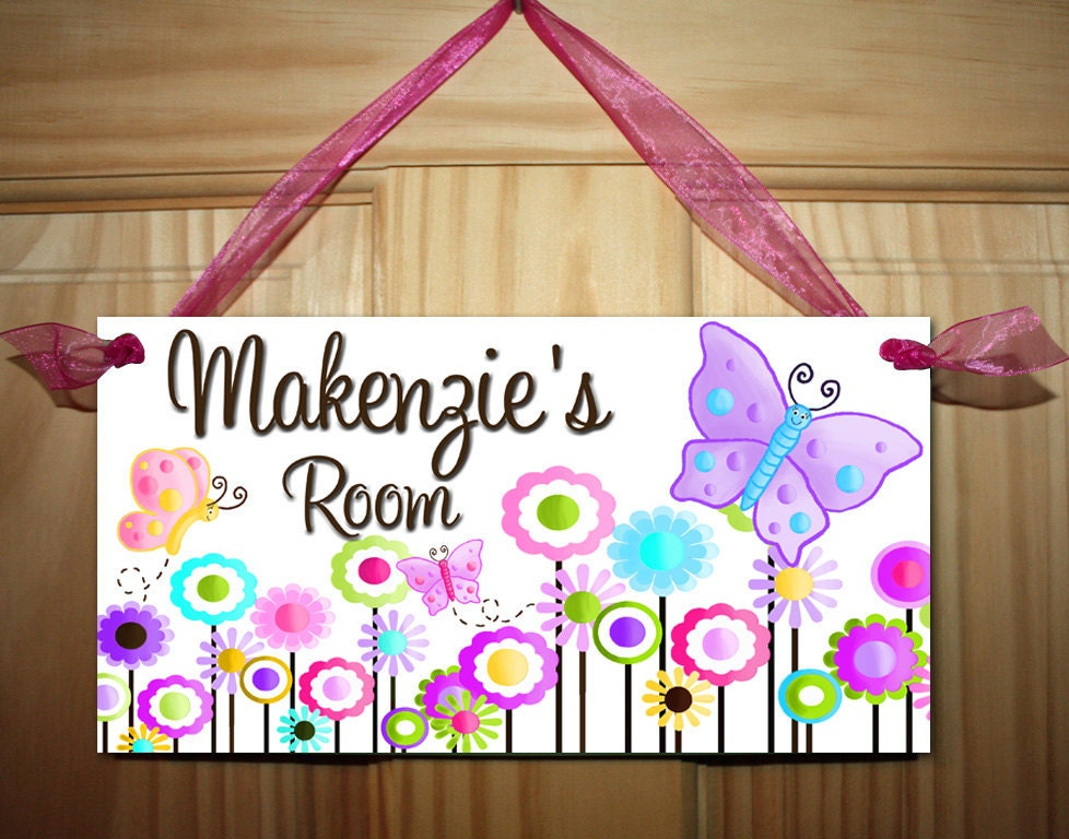 Kids Bedroom Door multicolour butterfly girls bedroom and baby nursery kids