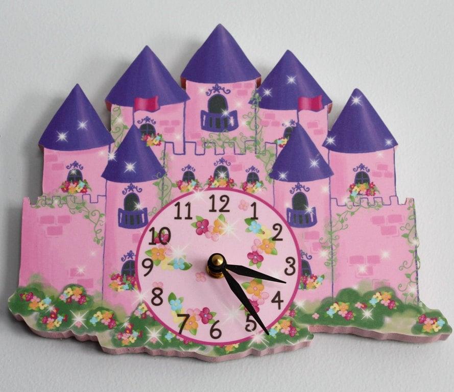 princess castle bedroom princess castle wooden wall clock for girls bedroom baby