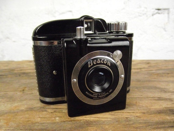 1940's Beacon Half-Frame Camera with Field Case
