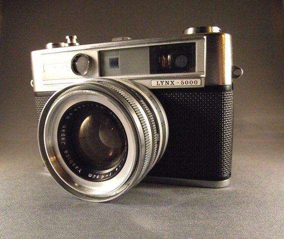 RESERVED 1960's 35mm Film Rangefinder Camera - Yashica Lynx 5000 with Field Case