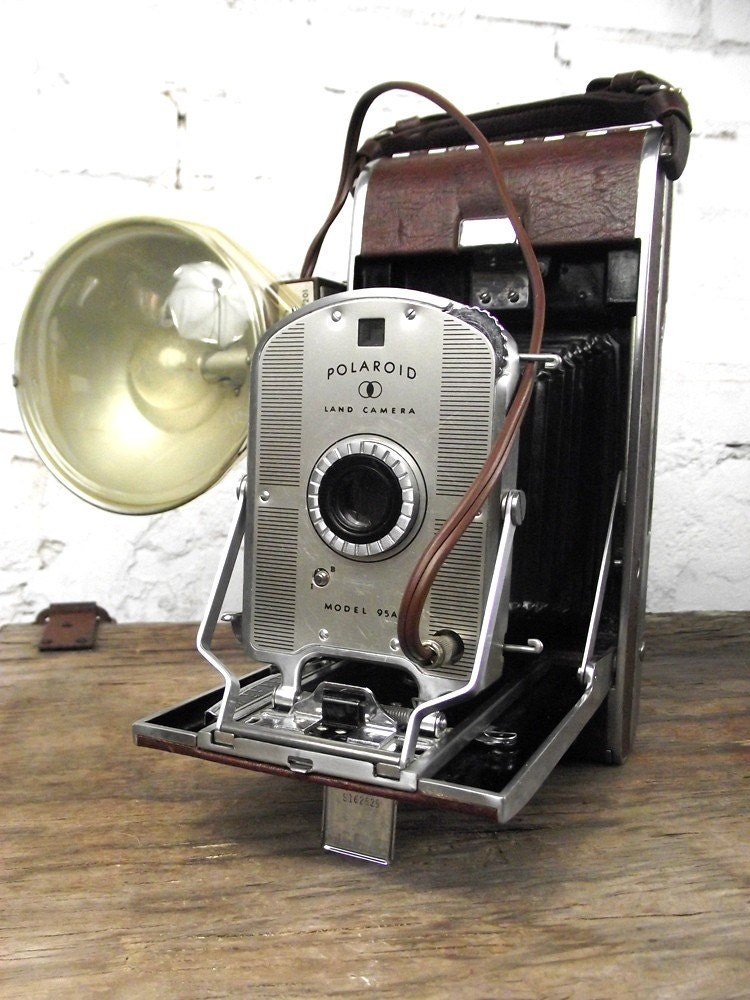 1940's Polaroid Land Camera Model 95A with Flash