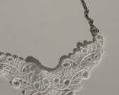 Lace and chain collar necklace