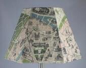 Lamp - Vintage Paris Map