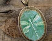 Dragonfly original painting pendant