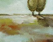Love Trees 5x7 original on watercolor paper
