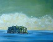 Summer Sage - 18x18inch original oil landscape painting by Rob Hazzard