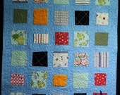 CUSTOM Memory Quilt Made From Your Own Clothing and Fabrics - Memory Frame Design
