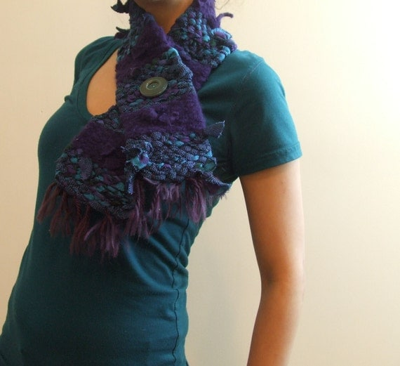 FREE SHIPPING - Super Sale  - Azure Sky - Woven Scarf