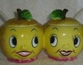 Vintage Anthropomorphic PY Pixieware Lemon Jam Jelly Condiment Jar Holt Howard Mid Century