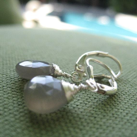 Morning fog earrings