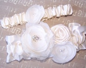 WEDDING GARTER SET - Ivory, Romancing the Stone, Available in Ivory or White