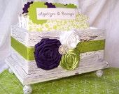 Recipe Box Deluxe -  Purple and Green Recipe Box