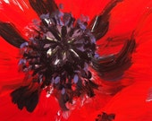 red poppy ACEO - ORIGINAL painting