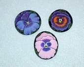 Pansy blossom with ladybug bright pink garden decor refer magnet collectible hand painted rocks by Rockartiste on Etsy