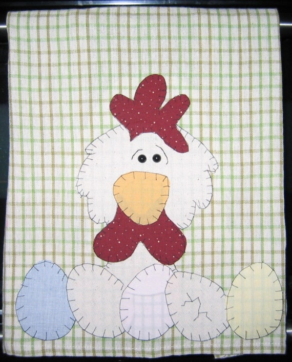 Chicken and Eggs Kitchen Towel