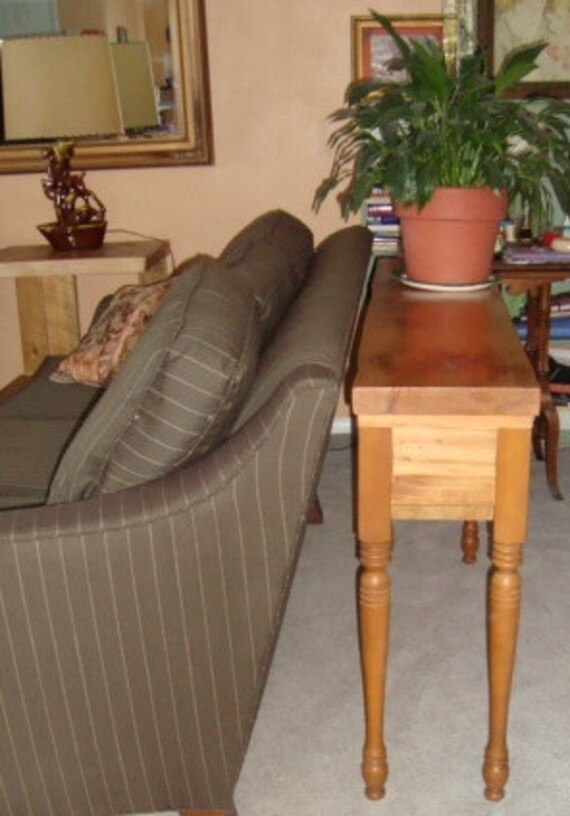 Turned Leg Console Table Or Sofa Table Couch Table