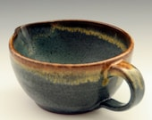 Small Turquoise and Gold Batter Bowl