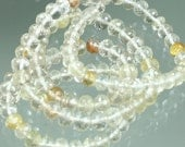 StoneyMarie 1/2 Strand AA Gold Golded Rutilated Quartz Micro-Faceted Rondelles 4mm - 4.5mm