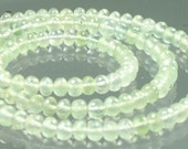 1/2 Strand AAA Prehnite Micro-Faceted Rondelles 3mm - 4mm