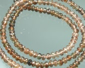 1/2 Strand of AAA Andalusite Micro-Faceted Rondelles 3-4mm