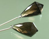Pair of AAA Smokey Smoky Quartz Fancy Briolettes 23mm