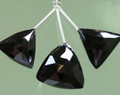 AA Black Spinel Faceted Trillion Briolettes 17mm - 20mm