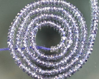 1/2 Strand of TOP QUALITY Gorgeous Tanzanite Mystic Quartz Faceted Rondelle Beads