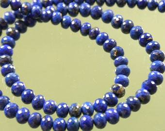 AA-AAA Lapis Micro Faceted Rondelles 6mm - 9mm