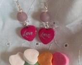 Valentine's Love earrings/ SALE