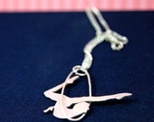 Circus Trapeze Artist Sterling Silver Pendant by Markhed