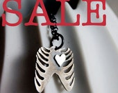 Rib Cage with Heart Silver Necklace by Markhed