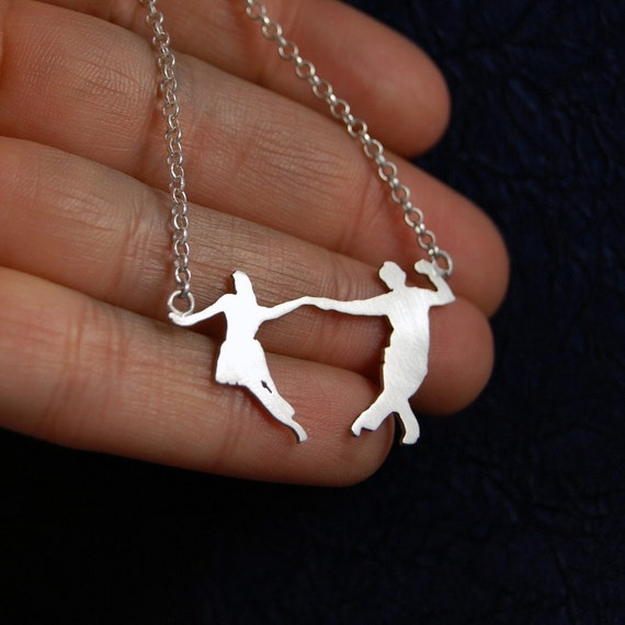 Made To Order - Swing, swing, swing Dance Silver Necklace by Markhed