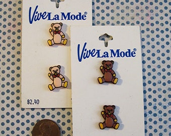 Teddy Bear Buttons (4)