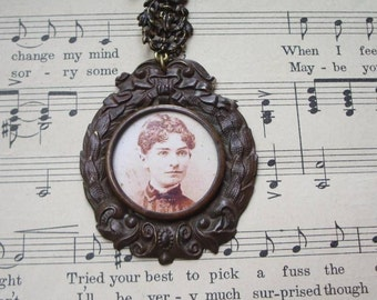 Vintage Aunt Millie Cameo Necklace, Assembled Pieces from Several  Jewelry Pieces