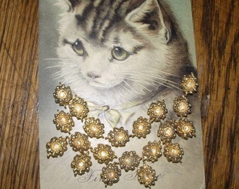 Gold Nugget Beads (20)